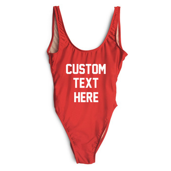 Custom High Cut Style Sexy Classic Women Red Bathing Backless Pretty One Piece Swimsuit