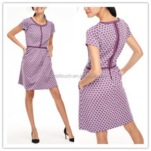 2015 Autumn/Winter dotty jacquard casual dress NT227