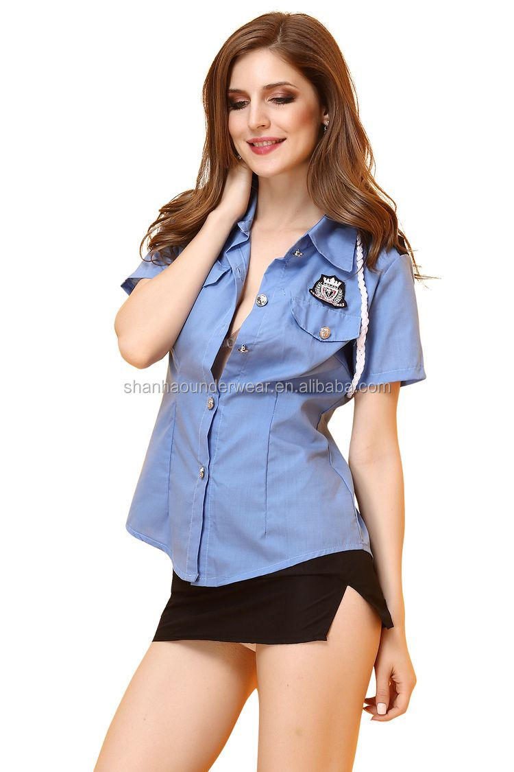 halloween Cosplay Party Fashion Stylish Female Sexy Cop Costume