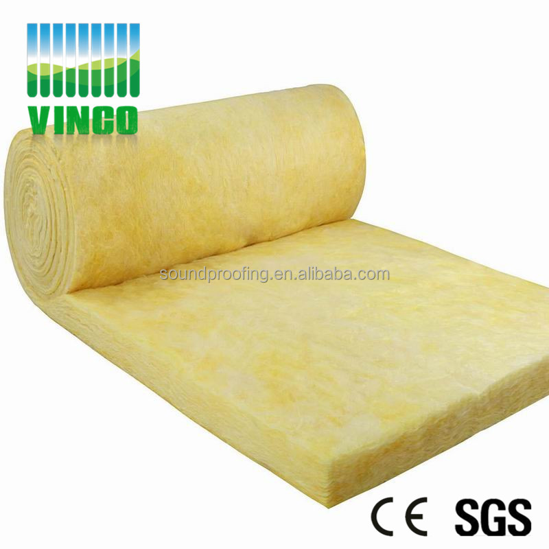 Cheap with good quality Sound insulation & fire proof black rock wool panel 50mm glass wool