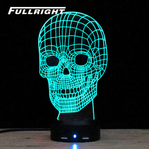 color changing mood light lamp base for 3d skull acrylic lamp