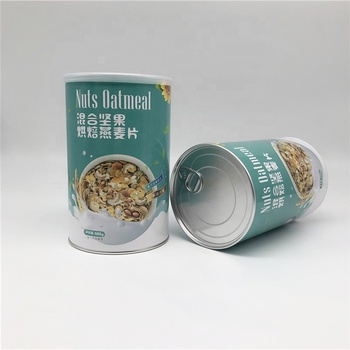 Professional Custom Airtight Food Grade Paper Composite Can Packaging Companies Located In Guangdong