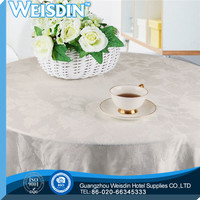 Polyester / Cotton new style round plastic table covers roll