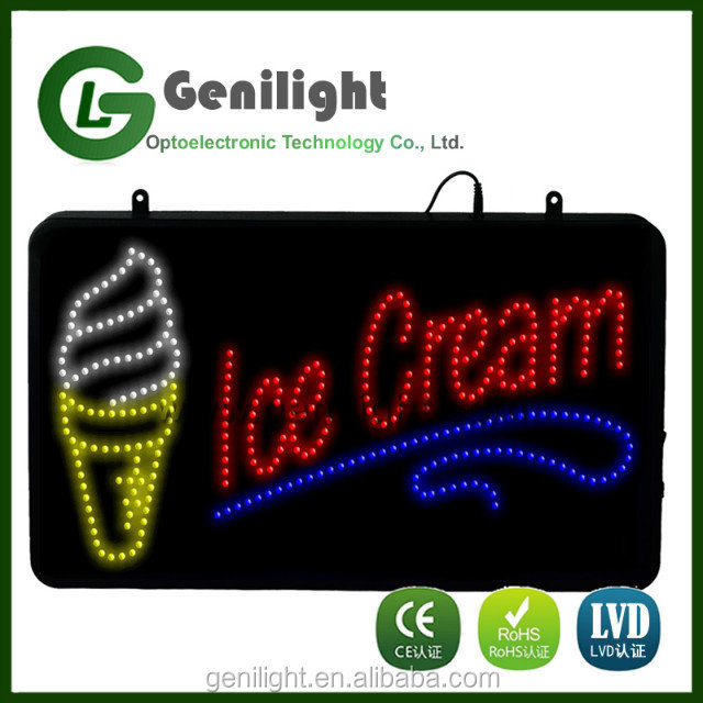 Flashing Boards Motion Business Shop Ice Cream Led Sign