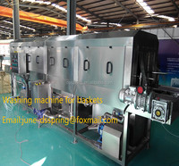 electric continue plastic trays washing equipment with dryer