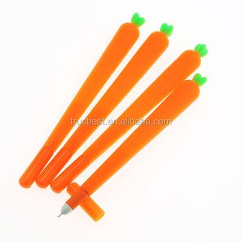 Korean Stationery Cartoon Cute Carrot Pen Advertising Creative Bent School  Office Gel Pens Christmas Gift - Buy Carrot Pen,Christmas Pens,Advertising