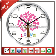 Wall Clock Metal With Love Word