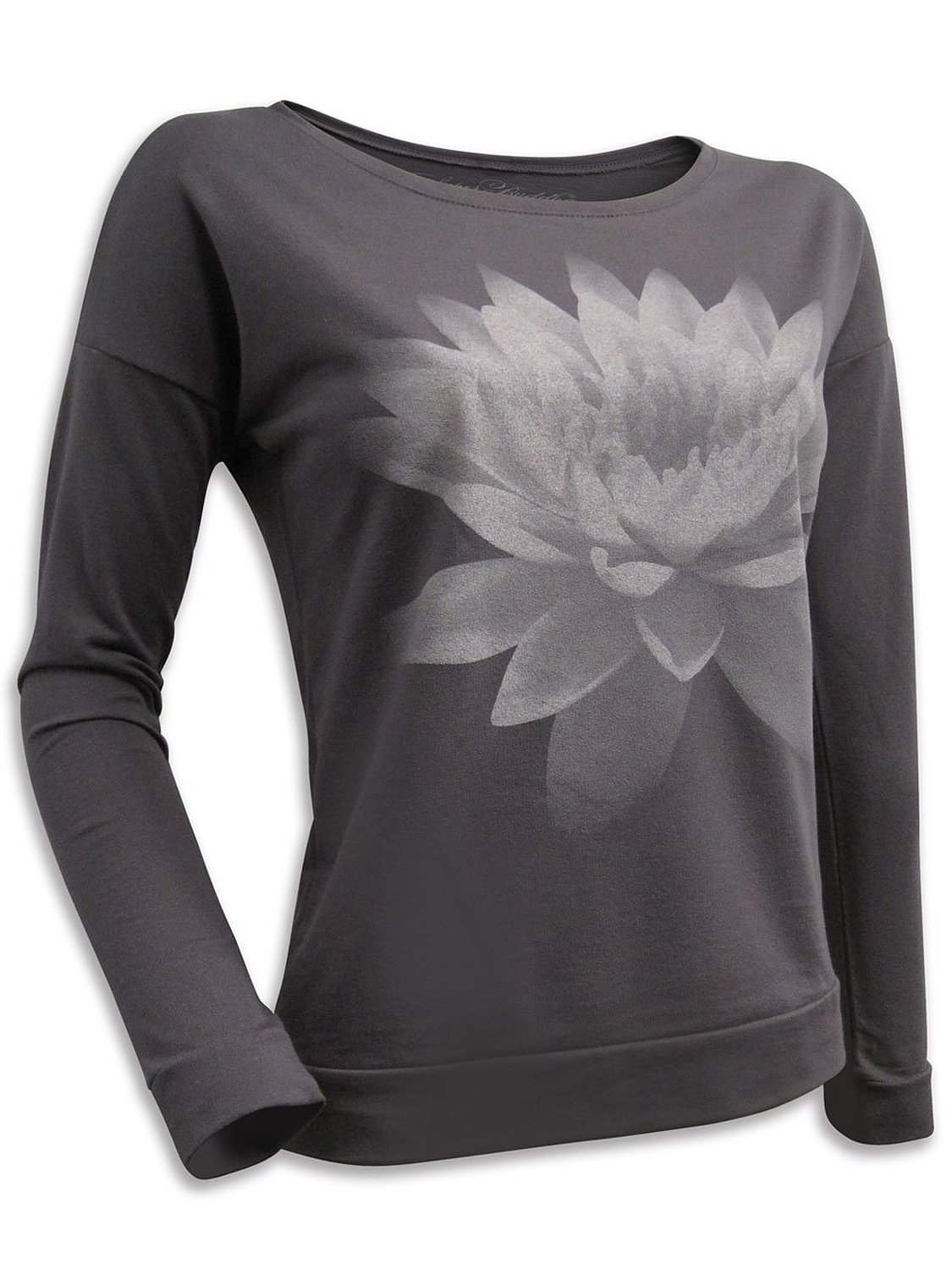 Buy super buddha women39s quotlotus flower om shantiquot super buddha womens lotus flower om shanti long sleeve french terry scoopneck izmirmasajfo