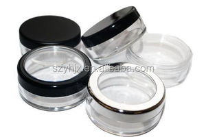 Mineral Jars with Black Rim Cap plastic injection mold