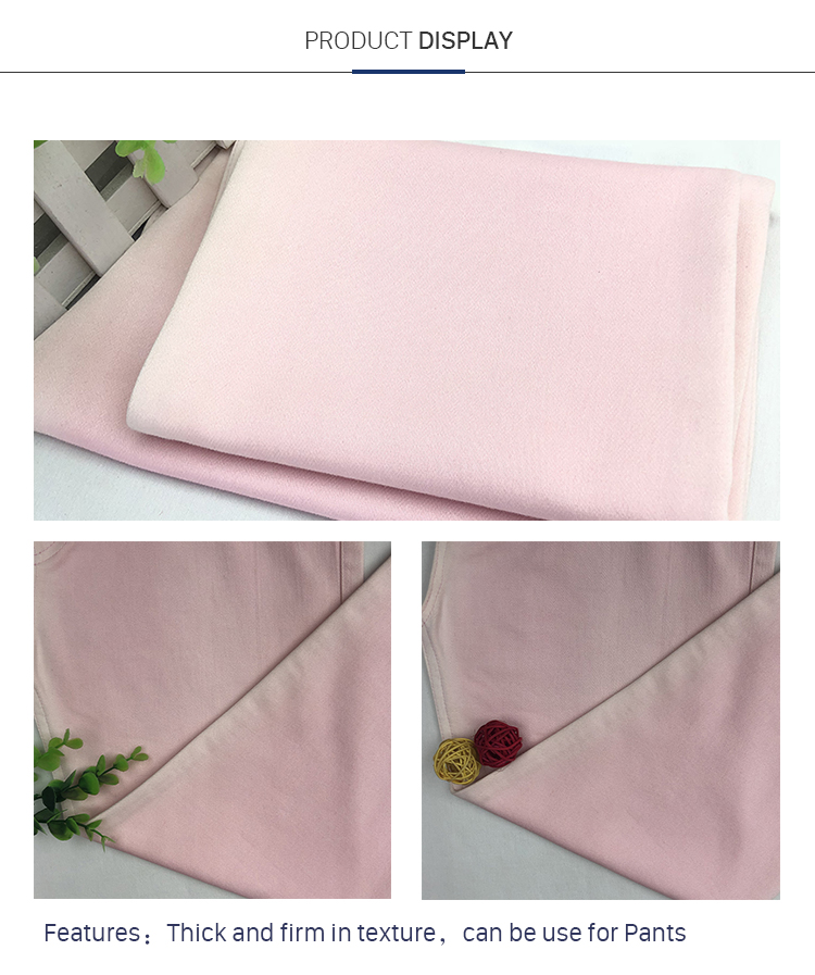 71%C 26%Nylon 3%El Double Layer Cheap Fabric