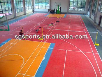 Pp plastic interlocking portable indoor basketball court for Buy indoor basketball court