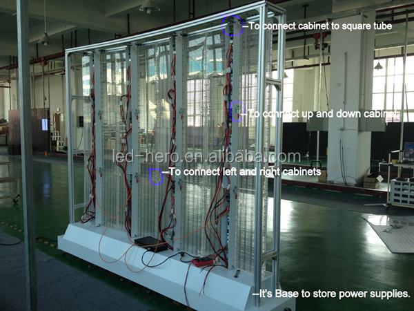 P10 outdoor convenient to move/excellent quality/new style led glass wall