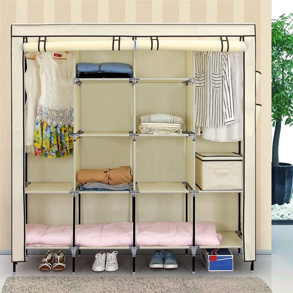 Easy Assemble Wardrobe Closet Furniture, Durable Large Helpful Wardrobe for Clothes Organizer