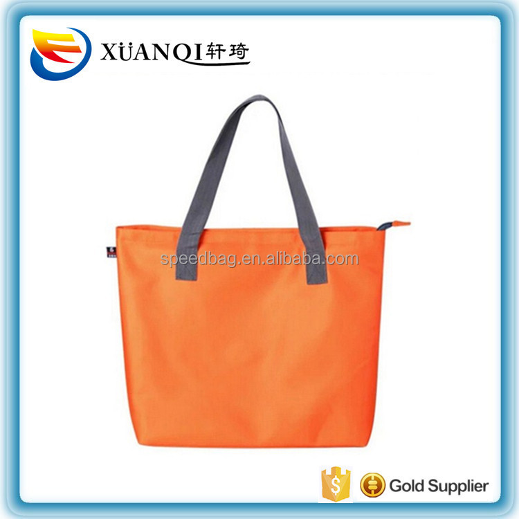 bright colors outdoor waterproof womens nylon beach tote bag