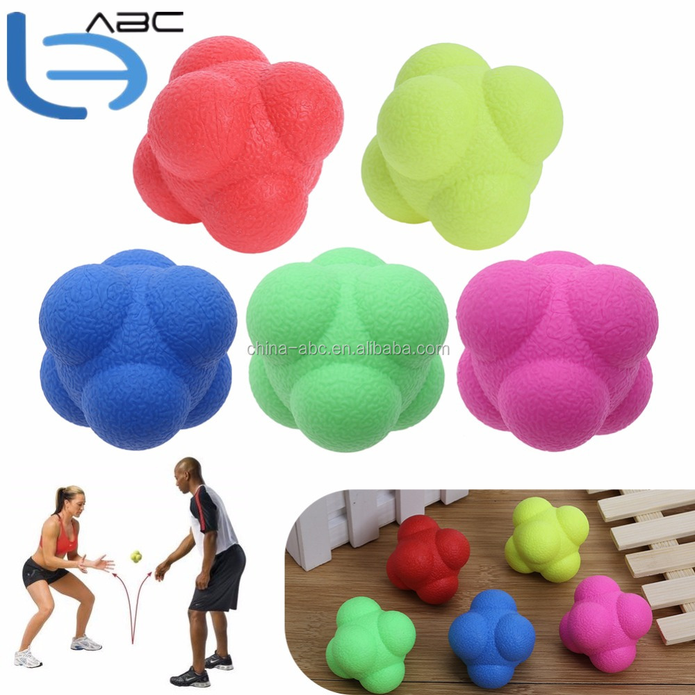 TPE Hexagonal Reaction Balls Baseball Fast Speed Agility Coordination Exercise Training