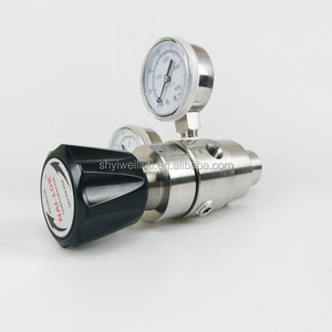 High pressure gas two stage pressure regulator for special gas system