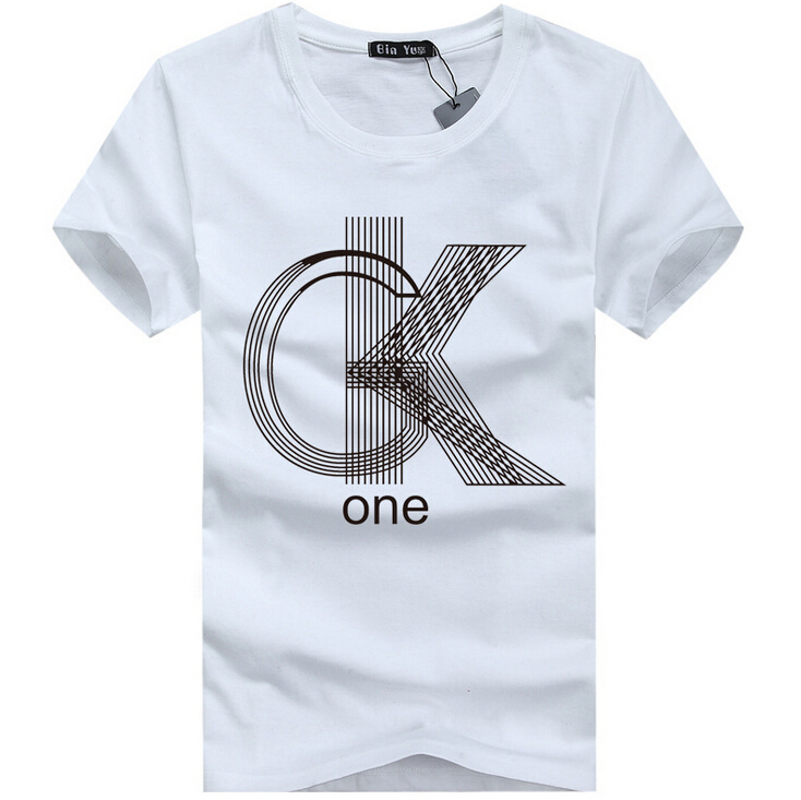 Get Quotations · Free shipping Mens T shirts Fashion 2015 Casual Short  Sleeve O neck Cotton Printed T Shirt d1519931392f