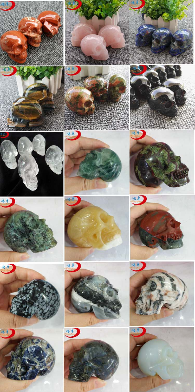 2019 hot sale animal skulls pendant carving natural gemstone crystal stone