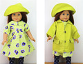 AMERICAN PRINCESS Doll Clothes for 18 Girl doll Handmade Flower nice dress and coat hat girl