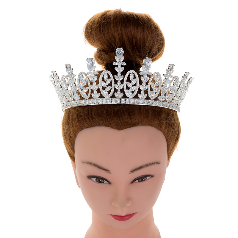 Echsio Fashion Wedding Bridal Copper <strong>Crowns</strong> Simple Design Queen Royal Princess Ceremony <strong>Crown</strong> For Women Prom Party BC4618