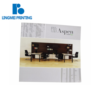 Glossy lamination surface finish softcover cheap colorful furniture desk magazine / table catalog book printing