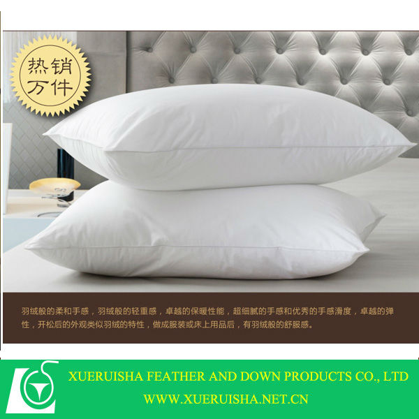 adult style 90% white duck down inflatable bath pillow