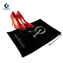 Portable Wholesale Custom High Heel Carrier Velvet Fabric Travel Organizer Flannel Drawstring Dust Storage Shoe Bag