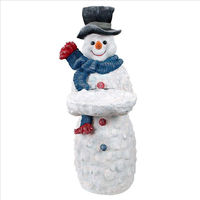 Manufacturer Products Resin Snow Man Tall Snowman Holding A Plate Christmas 2017