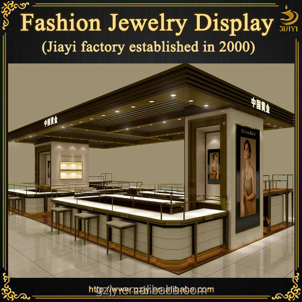 Jewelry Exhibition Booth Design : Popular wood jewelry exhibition stand for mall furniture