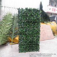 0908002 China manufacturer artificial ivy fence decoration leaves fence