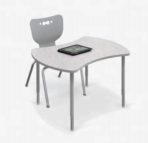 School furniture/spare parts four students desk system fit any classroom setting
