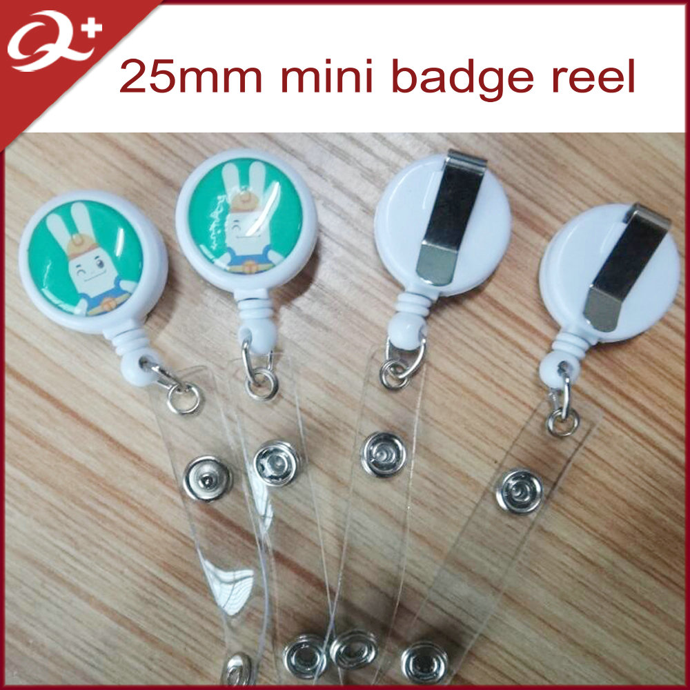 small round yoyo holder plastic badge reels for staff