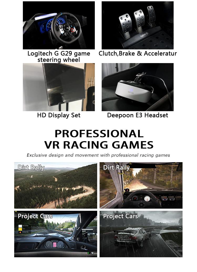 Hiburan Mesin Arcade Bermain Game Virtual Reality 9D VR Mengemudi Mobil Balap Simulator