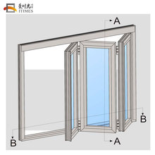 High quality custom sound proof air tight folding interior door folding doors kerala