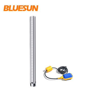 Bluesun deep well submersible 1hp solar pump for car wash solar pump pool brushless solar water pump