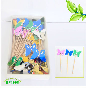 decoration toothpicks with butterfly buy toothpick with butterfly