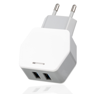 New Arrival Dual Port EU Fast Charging 5V 2.5A Safety USB Wall Charger