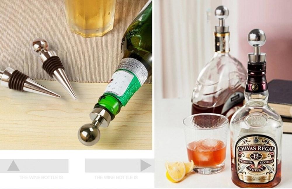 Wine Bottle Stopper, Metal Wine Stopper