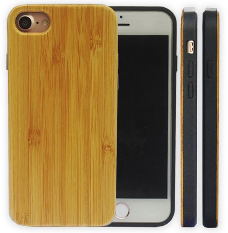 New natural custom bamboo wood tpu mobile phone case for iphone 6 7 8 plus