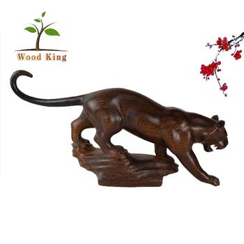 Negro Al Por Mayor Palo Animal De Madera Tigre Estatua Artesanía De Decoración De Mesa De Oficina Tema De Talla De Madera Buy Talla De