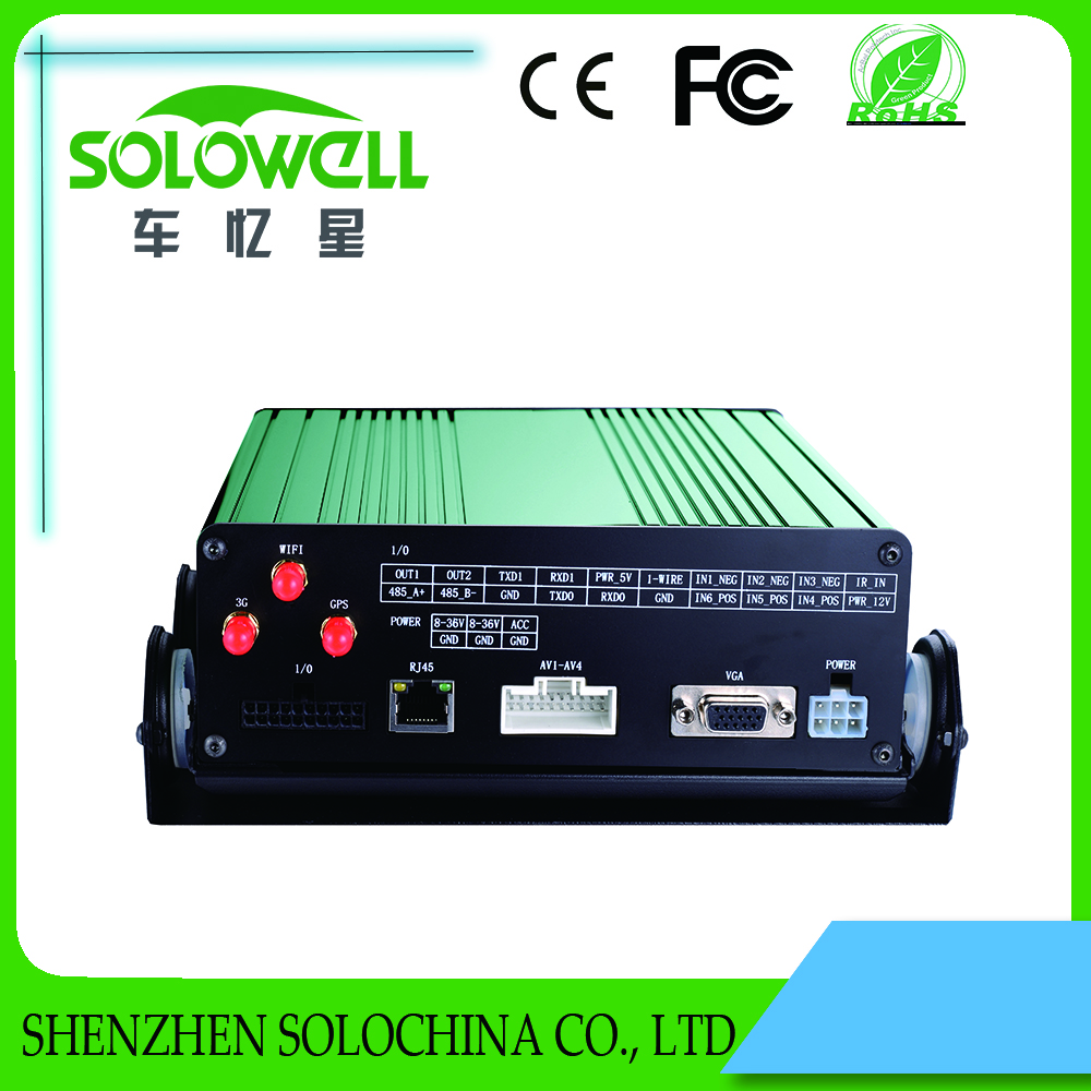 New 4ch 720p 3g 4g streaming video mobile dvr with gps for bus car taxi