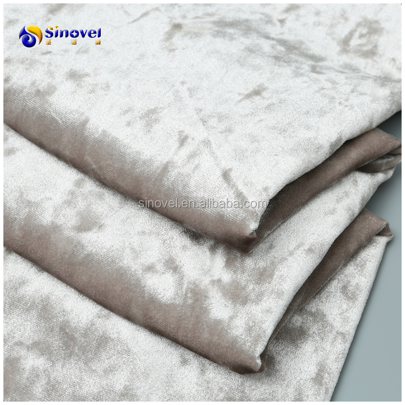 polyester microfiber fabric shining ice crushed velvet for garment