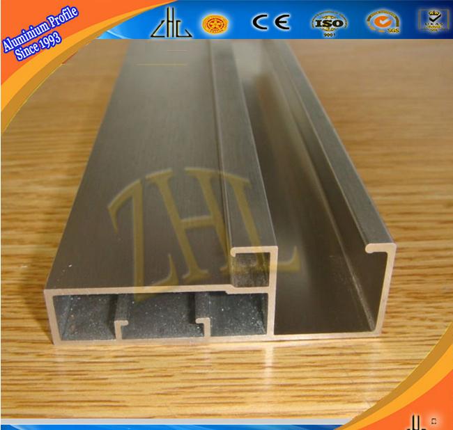 Kleiderschrank designermöbel  6063 aluminium kleiderschrank schiebetür profile/oem doppel-farbe ...