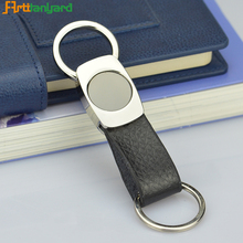 Wholesale Universal Leather Fabric Logo Keychain for Bags and Car
