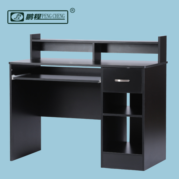 Popular in Amazon Full Size Black Desktop Study Table Home Office Desk with Drawer