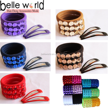 Cheap Wholesale Colors 4cm Resin Dot Nylon Hair Elastic