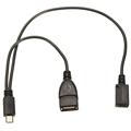 1 in 2 OTG Host Micro USB2 0 Male to USB A Micro USB Female Data