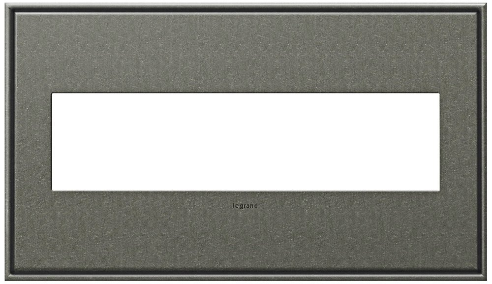Legrand (AWC4GBP4) adorne Brushed Pewter 4-Gang Wall Plate