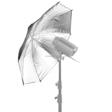 Ereise Photography studio light equipment reflect Black silver umbrella made of nulon material and aluminum shaft