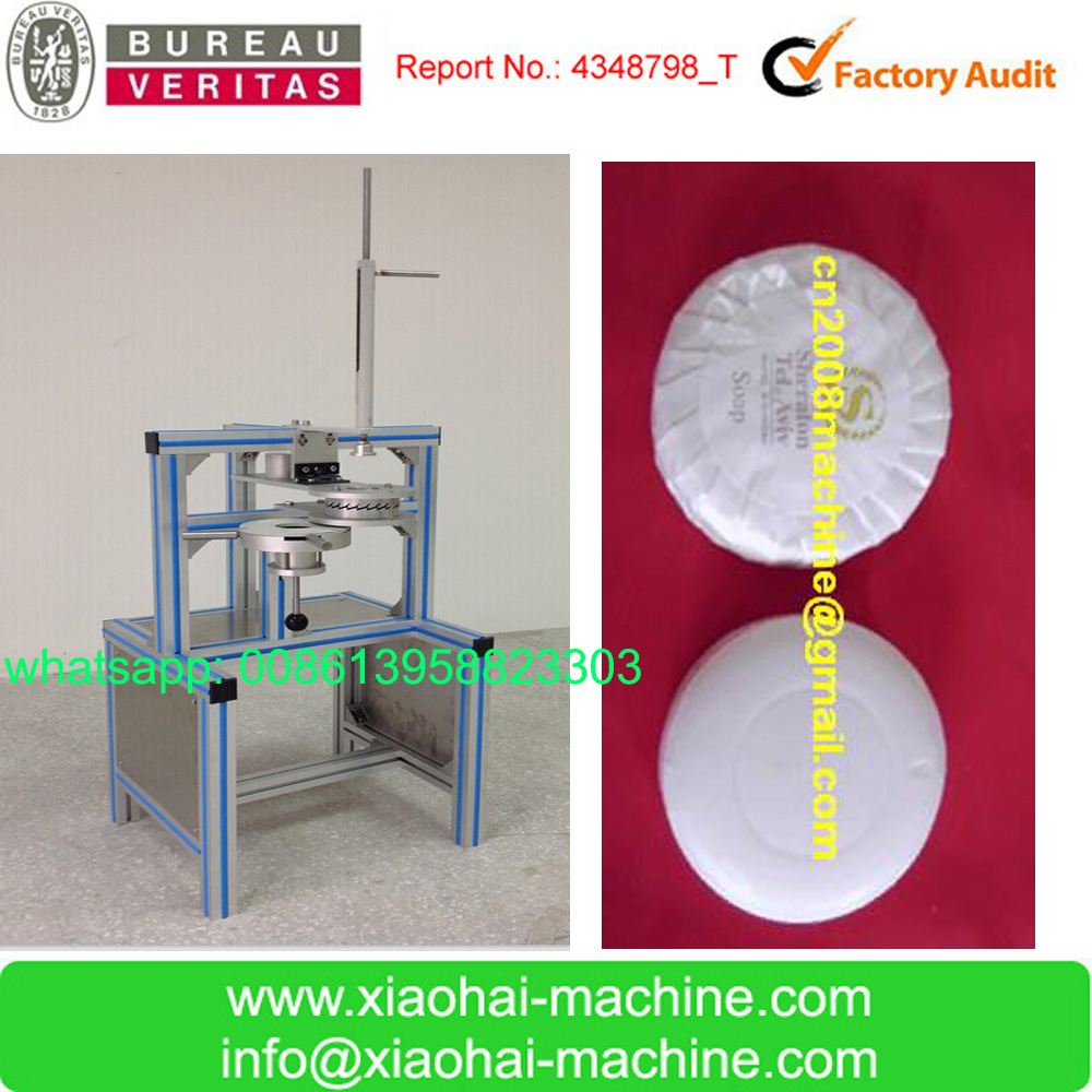 Manual soap pleat wrapping machine for Hotel Bath Hand Wash Small Mini Disposable Bath Round soap